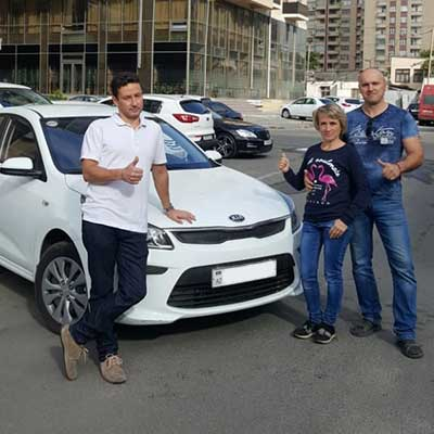 Our quests from Russia chose Kia Rio / rent a car Baku / аренда авто в Баку / arenda masinlar