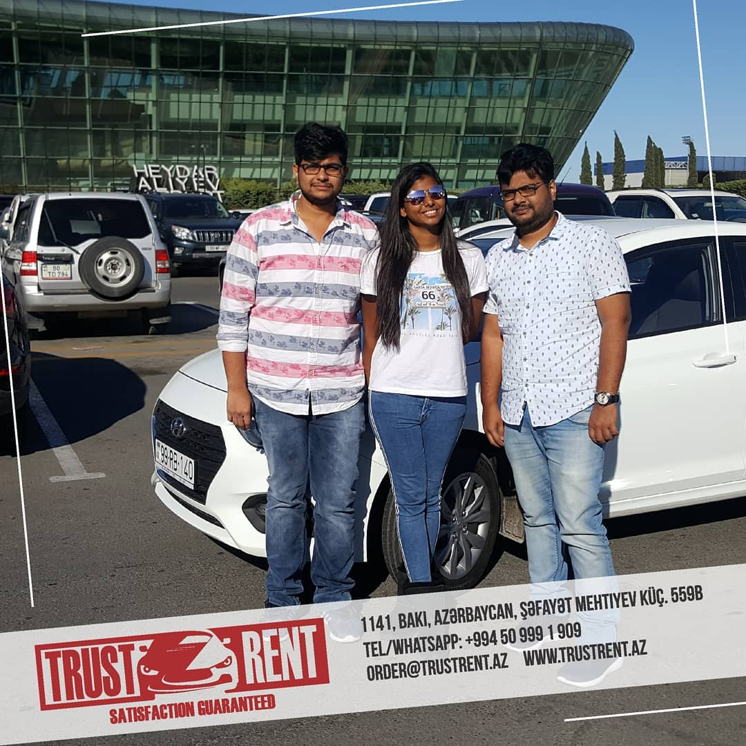 Car rental Baku / Our customers from India ordered a car online