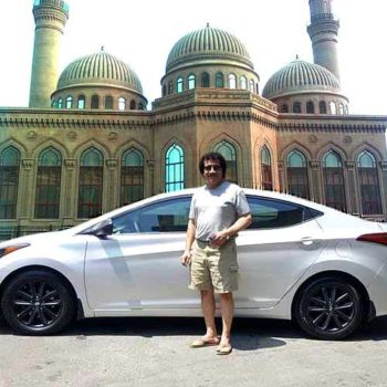 Our client from UAE sent a photo near to the Bibi Heybat Mosque (Baku)