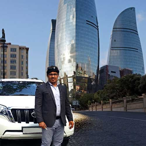 Flame Towers. Baku sights Trust Rent a car Baku / Аренда авто в Баку / Arenda maşınlar 22.11.2019