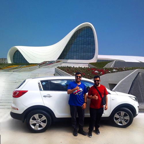 "From the ""Sights of Azerbaijan"" series: Our client from UAE sent a photo near to the Heydar Aliyev Center (Baku)."
