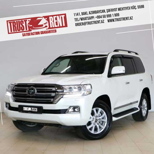 Toyota Land Cruiser 2020 Rent A Car Baku, Car hire Baku, прокат авто в Баку, Авто на прокат в Баку, maşın kirayəsi