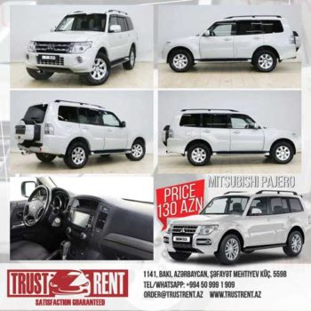 Rent a Mitsubishi Pajero Rent A Car Baku, Car hire Baku, прокат авто в Баку, Авто на прокат в Баку, maşın kirayəsi