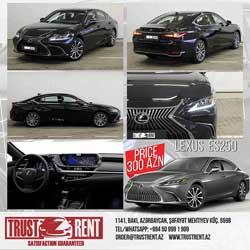 Rent a Lexus ES250 Rent A Car Baku, Car hire Baku, прокат авто в Баку, Авто на прокат в Баку, maşın kirayəsi