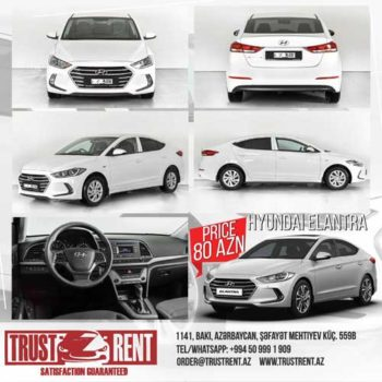 Rent a car in baku | Car Hire Baku Hyundai Elantra 2018